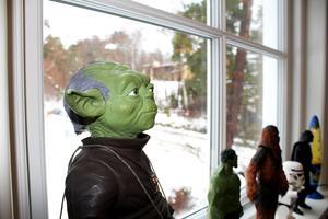 Star Wars-figurerna har bästa utsikten.