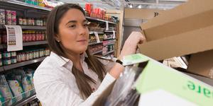 Hanna Lundberg, butikschef på Hemköp på Öster Mälarstrand, ser fram emot öppningen 27 november.