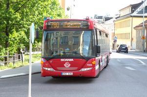 Buss 780 på väg mot Nykvarn.