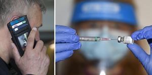 Skulle du bli uppringd och bli erbjuden vaccin mot covid-19 mot betalning, lägg i så fall på luren, är polisens uppmaning. OBS: Genrebild. Foto: TT.