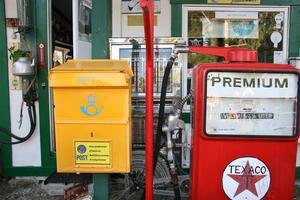 Nostalgi med en gammal bensinpump. Foto: Cenneth Wedin