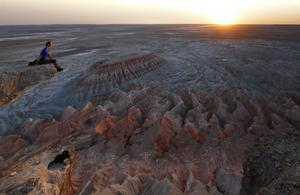 En bild från Turkmenistan som Anna Samuelsson nyligen visade på Sala Fotoklubbs föreningsmöte. Foto: Anna Samuelsson