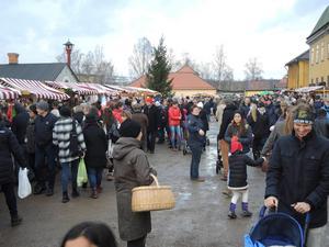 Julmarknaden vid Falu Gruva hade 15 000 besökare förra året.