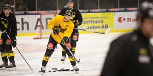 David Rundqvist under första ispasset med nya klubben.