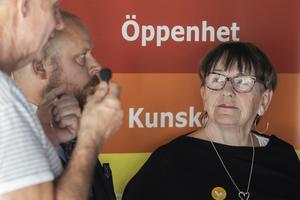 Bengt-Olov Renöfält, Tommy Winqvist, Ingrid Hammarberg deltog i samtalet.
