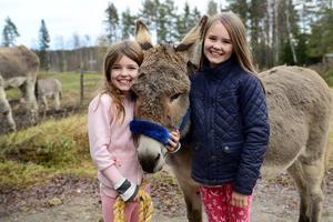 Rosalea har gjort avtryck i svensk film där hon har spelat mot bland annat Björn Gustafsson och Nour El-Refai. Här är hon hemma i Fränsta med Elsa och Astrid Höglund.