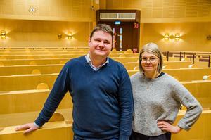 Niklas Säwén och Lisa Tynnemark är båda nytillträdda  ordföranden för socialnämnden respektive barn- och utbildningsnämnden i Sundsvall.