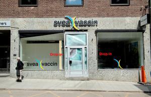 Svea vaccin öppnar snart på Kyrkogatan 20.