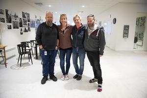 Fyra av de åtta i personalen fanns på plats vid Sundsvalls Tidnings besök. Bengt Persson, Susanne Åhlén, Helen Löf och Terje Emtfeldt.