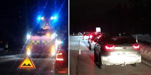 Två hästar blev på tisdagskvällen påkörda på E16 i höjd med Ornäs, mellan Borlänge och Falun. Olyckorna skapade stora köer i trafiken.