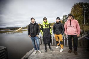 Från vänster: Jörgen Nordström, Iscar Nordström, Joakim Jönsson och Filip Paalanen.