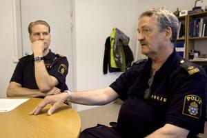 Josef Wiklund och Sam-Olof Palm har arbetat med polisens insats för att hitta ungdomar som använder narkotika.
