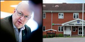 Den 20 juni slog Apoteket i Särna igen verksamheten, trots Region Dalarnas protester och inbjudan till samtal. Montagefoto: Nisse Schmidt, Johan Solum.