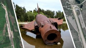 Miljögifter har hittats vid flygbaserna Sättna och Kubbe. Vid övningsplatsen i Kallinge har man också hitta PFAS som spridit sig till vattentäkten. Bild: Johan Nilsson TT, Montage