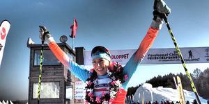 Foto: Worldloppet. Maria Gräfnings efter segern i kinesiska Vasaloppet.