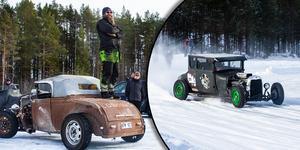 Älvis on ice är ett israce för Hot Rod-bilar som anordnas varje år på Mansjön strax utanför Lobonäs.