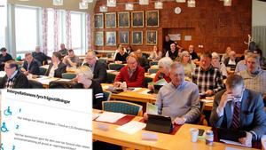Vid kommunfullmäktiges sammanträde var det en interpellation som diskuterades länge. Bilden är ett montage.