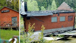 Även Outlaws lokal i Hille i Gävle drabbades av en attack. Hela lokalen brändes ner under MC-kriget.