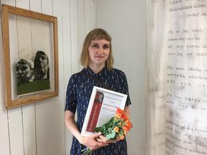 Felicia Rauma Andersen vann i kategorin kommande lovande konsthantverkare. Foto: Konstfrämjandet Bergslagen.