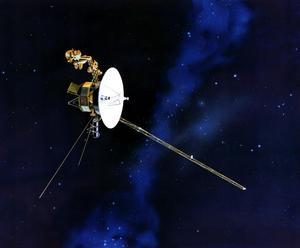 En bild av sonden Voyager som Nasa skickade ut i rymden 1977. Foto: AP/Nasa