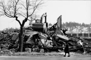 Det gamla badhuset revs i mars 1980.