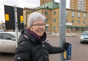 Anna Östholm tycker att kommunen borde optimera trafikljusen i första hand. Rondellförslaget skulle innebära begränsningar för bilister, anser hon,