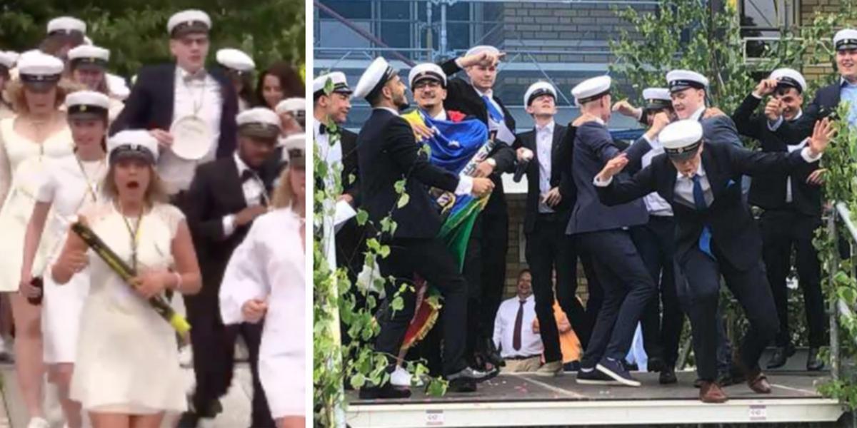 TV: Se studentutspringen i Jönköping – JP/Jnytt sände live från de största gymnasieskolorna