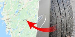 Den här gången är det trafikanter på riksväg 40 mellan Bollebygd och Borås som har drabbats av skador på däck och bilar.