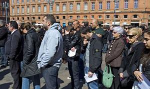 Invånarna i Toulouse hedrar offren för terroristen Mohamed Merah.