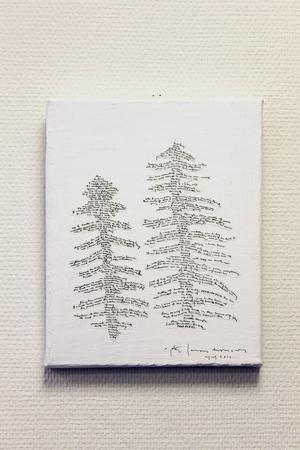 Peter Lucas Erixons verk hänger på Krokoms bibliotek.
