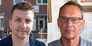 Marino Wallsten (S), kommunstyrelsens ordförande och Jan Johansson (M), vice ordförande kommunstyrelsen.