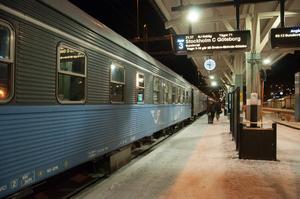 Måndagkväll och nattåget mot Stockholm/Göteborg avgår strax.