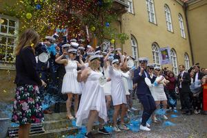 Staffangymnasiet i Söderhamn sparkade ut sina studenter under torsdagen.