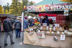 Tulpaner från Norrland hade också ett stånd på marknaden.