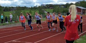 Start på ett 60 meter heat i Helga och Härjulf. Fotograf: Therese Jonsson