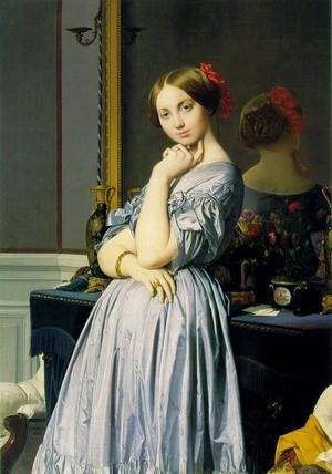 Jean Auguste Dominique Ingres  porträtt av Louise de Broglie från 1845.
