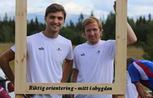 Joakim Svensk och Jerker Lysell, eldsjälarna bakom Obygdshelgen.