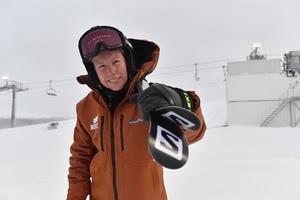 Sandra Näslund, skicrosstjärna i Kramfors.