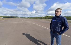 Jörg Bassek och Idre flygplats