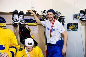 Dennis Everberg vann VM-guld med Sverige 2018 och 2017. Foto: Ludvig Thunman / Bildbyrån