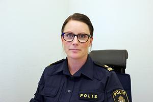 Karin Eldblom, förundersökningsledare på Polisen i Hallsberg.