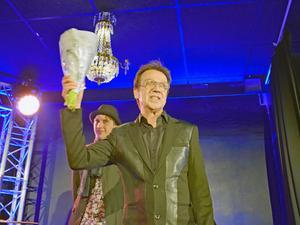 En rörd Björn Skifs tog emot juryns hederspris vid senaste galan. Arkivbild.