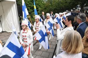 Finlandfirandet i Stockholm i augusti 2017. Avtäckning av minnesmärket