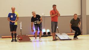 Kalle Åkesson (till vänster) vann singel–elit under lördagen.