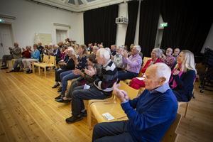 Det kom ett 50-tal besökare till konserten med Kungliga Filharmonikernas Blåsarkvintett i söndags. Foto: Lennye Osbeck