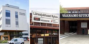 Totalt vårdas nu 100 patienter med covid-19 på länets tre sjukhus. Arkivbilder