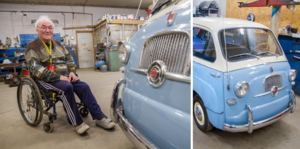 I fem års tid har Rune Axelsson renoverat en Fiat Multipla. Nu är den i ett skick som förmodligen är bättre än när den i slutet av 50-talet anlände till Sverige från Italien