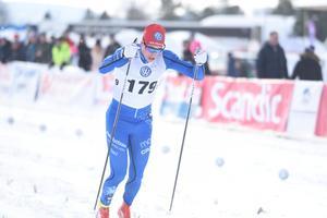 IFK Moras Gustav Eriksson fick äntligen ett bra resultat igen i skidspåret.
