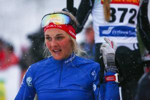 Stina Nilsson blev trea i första loppet för säsongen.