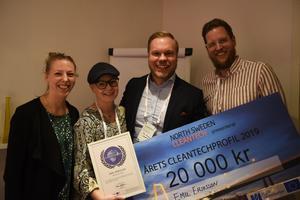 Årets Cleantech-profil gick till Emil Eriksson på Järven Ecotech med motiveringen